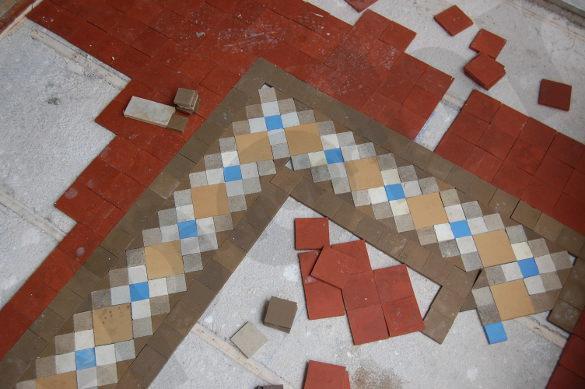 pulido de mosaico de Nolla