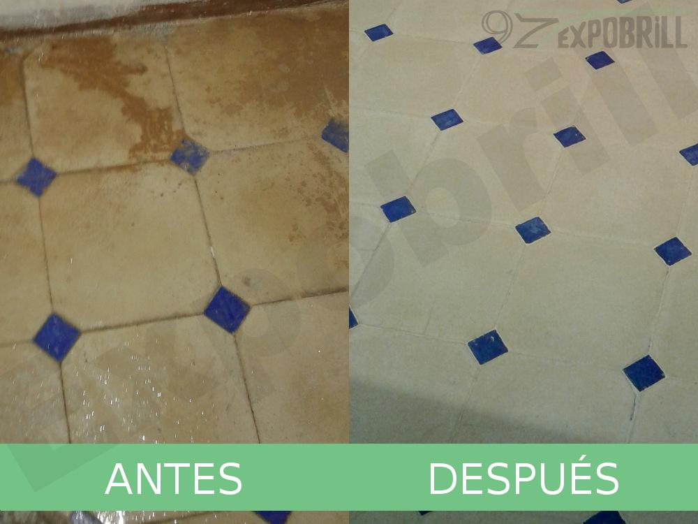 Restaurar mosaicos hidráulicos - Pulido de suelos hidráulicos. Expobrill