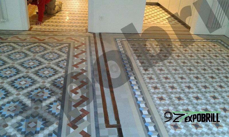 mosaico de Nolla pulido